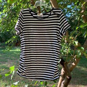 Michael Kors black and white striped T-shirt.
